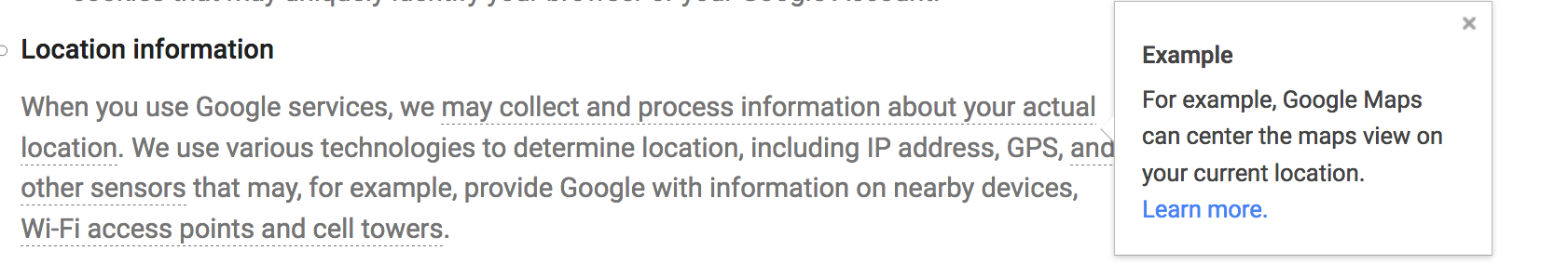 Location Privacy Policy