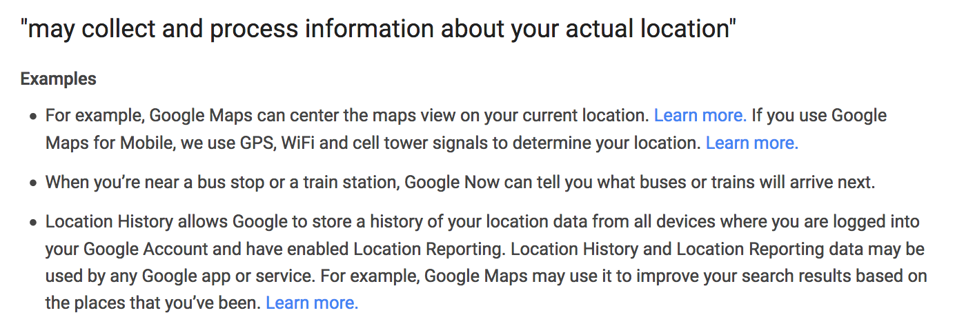 The Right to not be Tracked: a Spotlight on Google Maps and Android