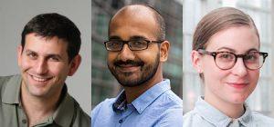Pictured left to right: Joe Hellerstein, Aditya Parmeswaran, and Sarah Chasins